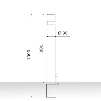Medidas pilona barceco extraíble