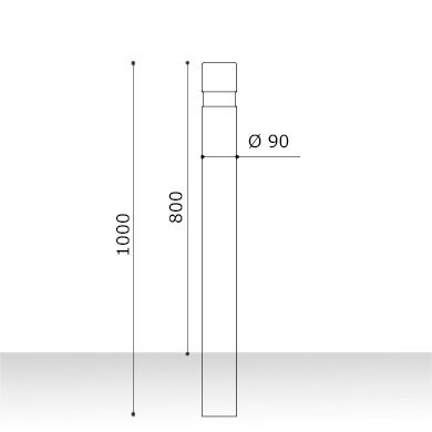 Medidas pilona barceco fija